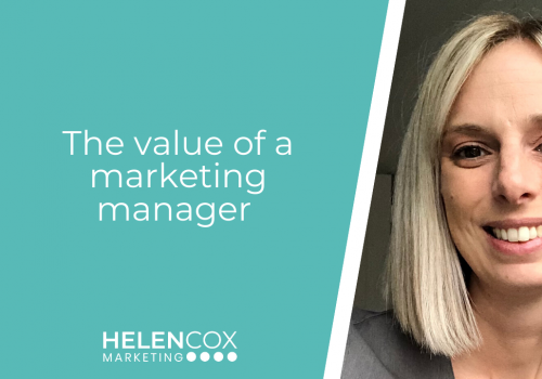 The value of a marketing manager