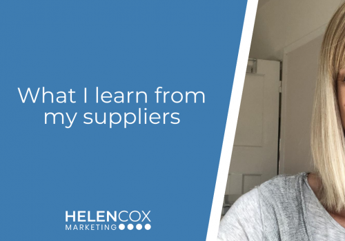 What I learn from my suppliers