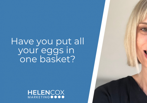 Have you put all your eggs in one basket?