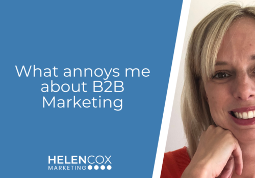 What annoys me about B2B Marketing